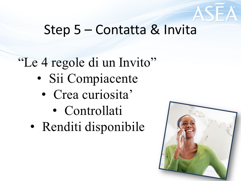 Step 5 – Contatta & Invita