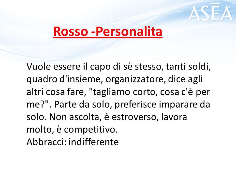 Rosso -Personalita