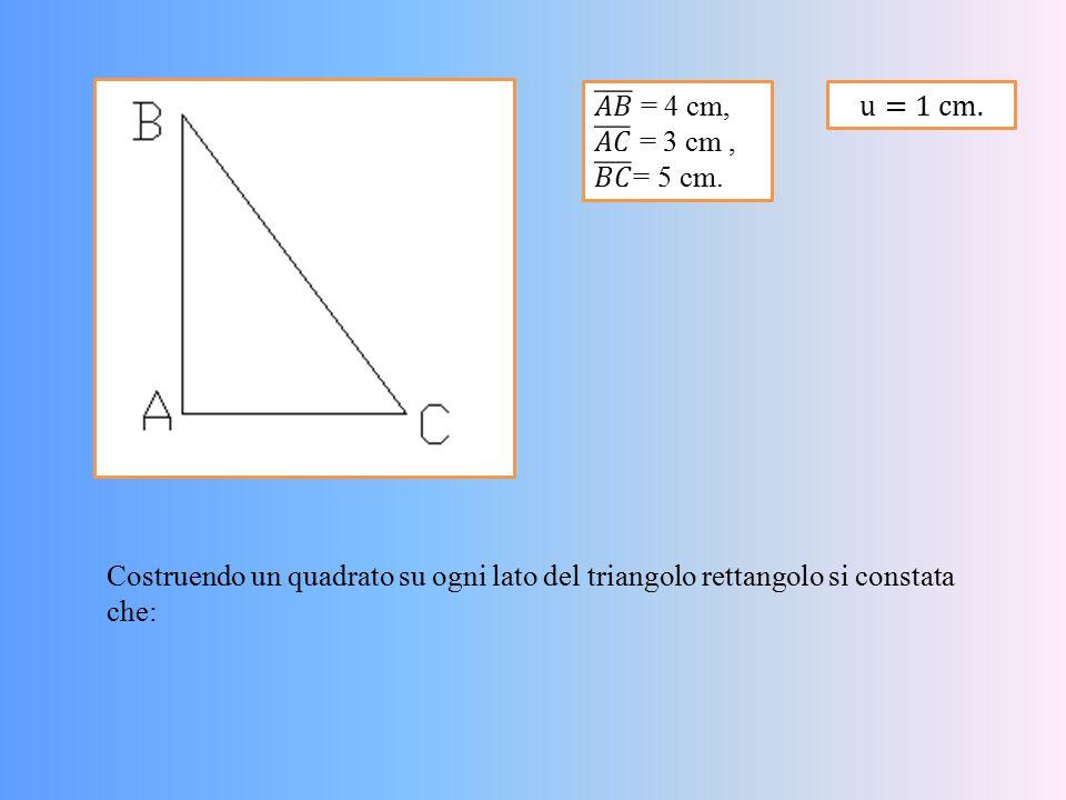 𝐴𝐵 = 4 cm, 𝐴𝐶 = 3 cm , 𝐵𝐶 = 5 cm. u=1 cm.