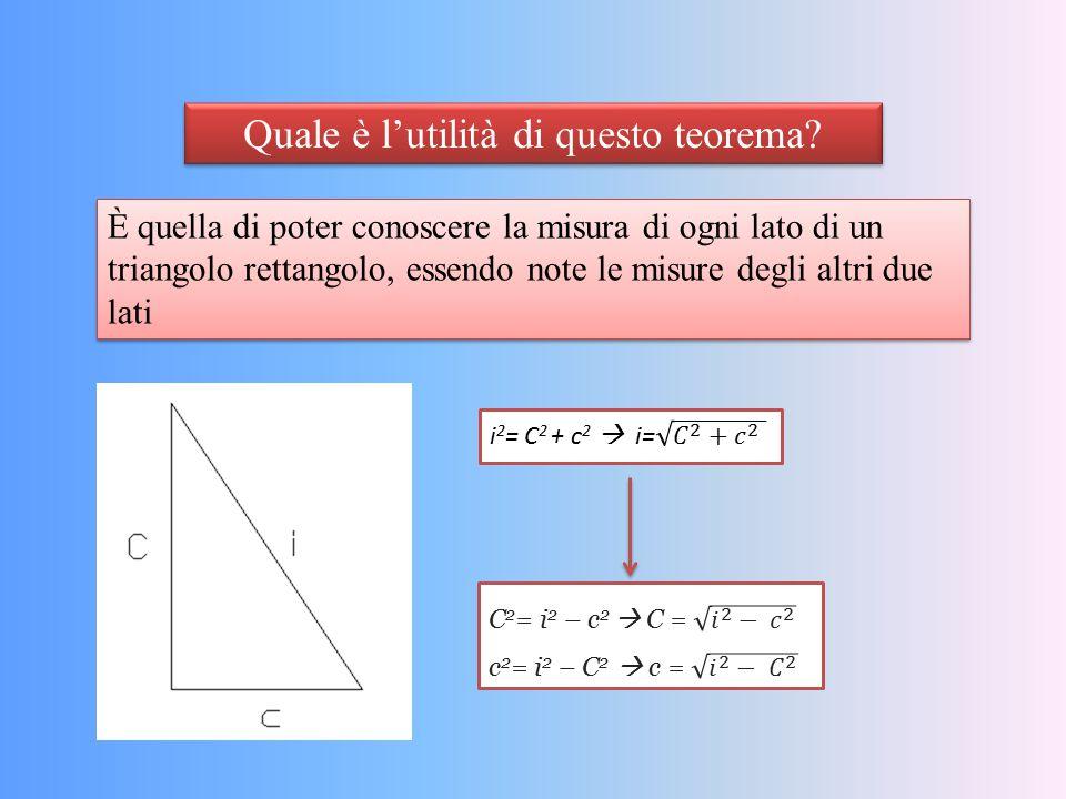 Quale è l'utilità di questo teorema