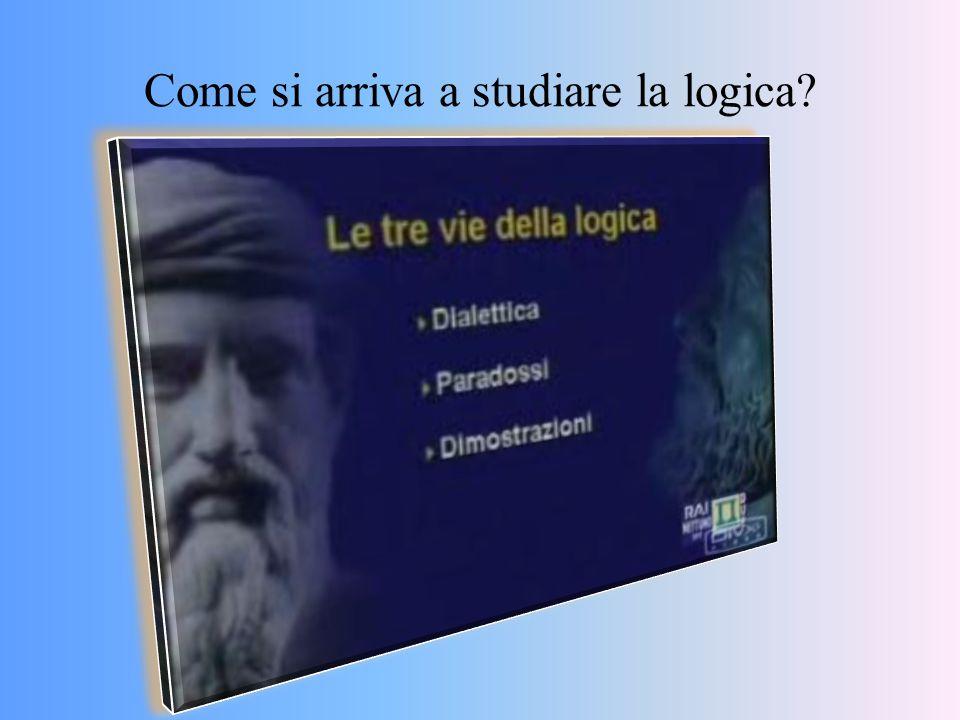 Come si arriva a studiare la logica