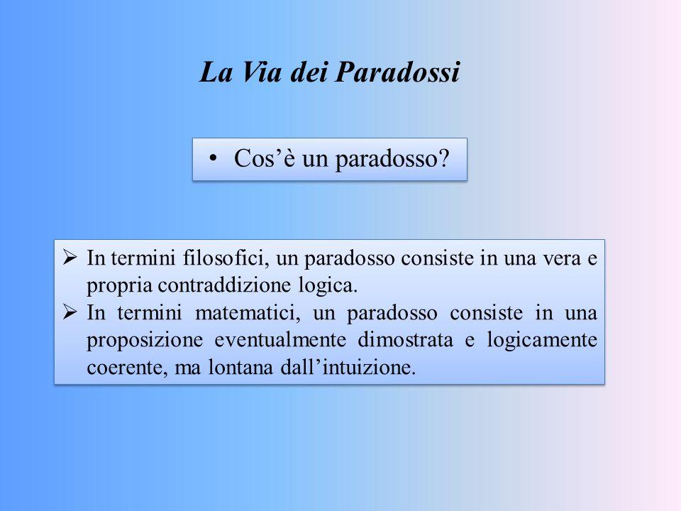 La Via dei Paradossi Cos'è un paradosso