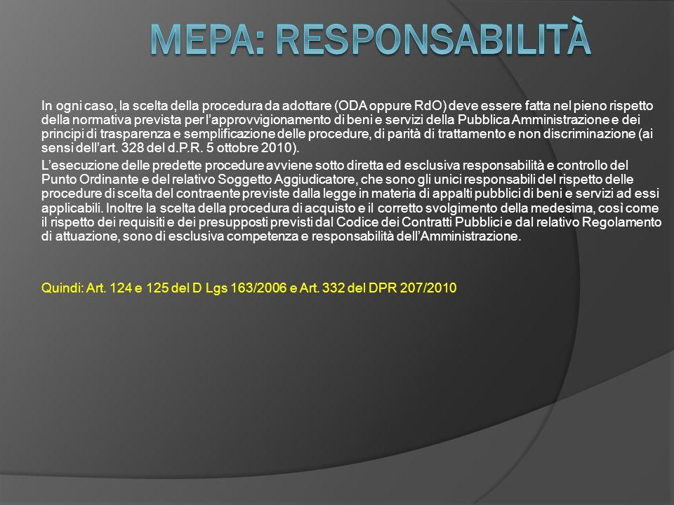 Mepa: responsabilità