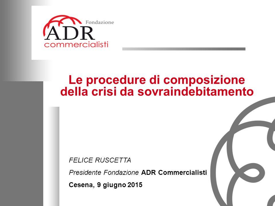 Le procedure di composizione della crisi da sovraindebitamento