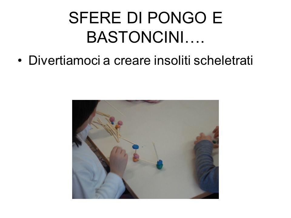 SFERE DI PONGO E BASTONCINI….
