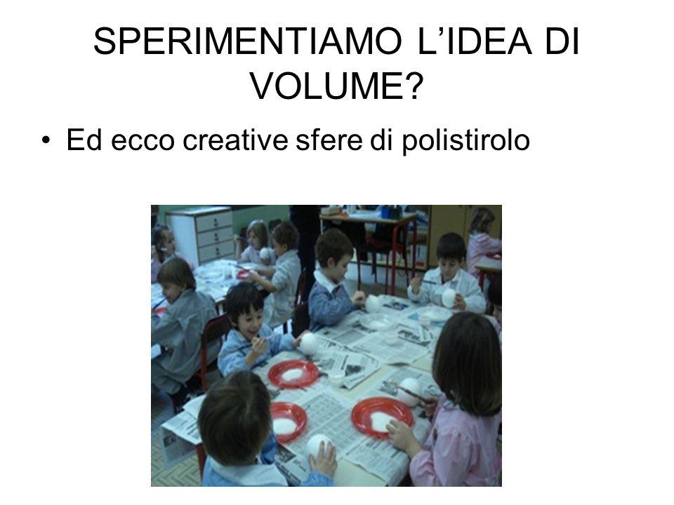 SPERIMENTIAMO L'IDEA DI VOLUME