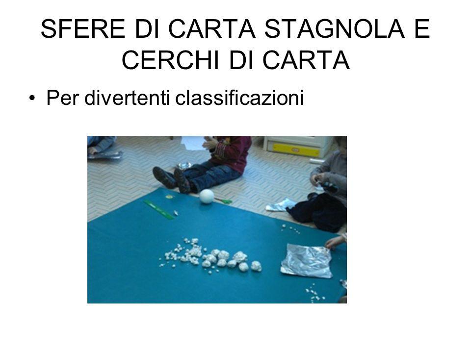 SFERE DI CARTA STAGNOLA E CERCHI DI CARTA
