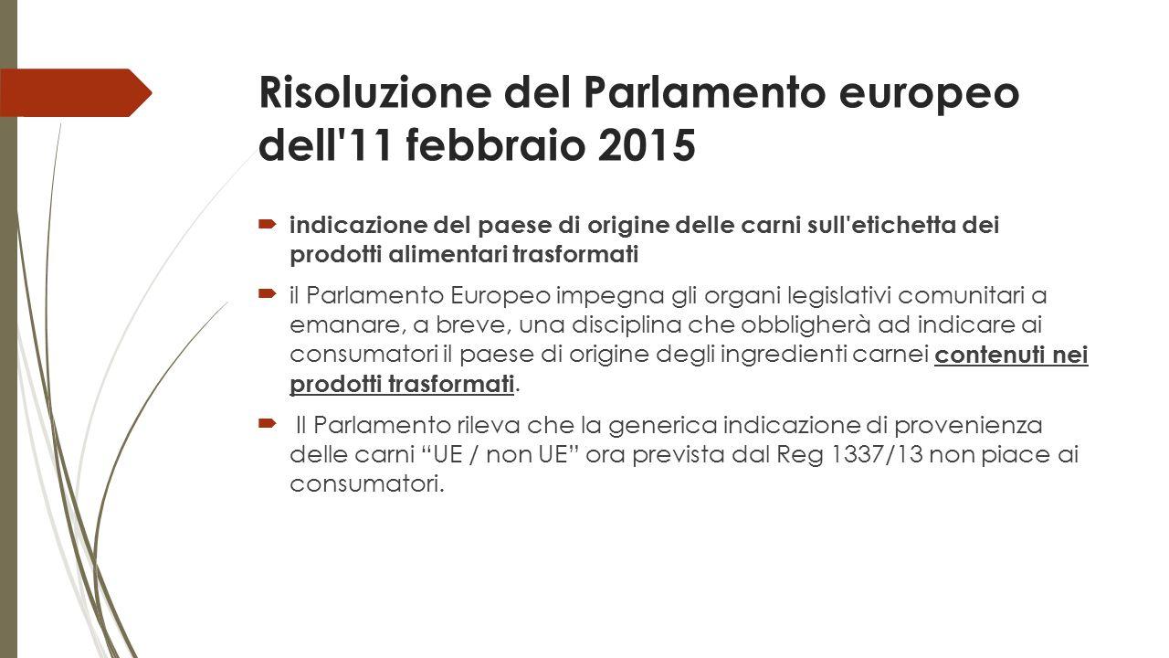 Risoluzione del Parlamento europeo dell 11 febbraio 2015