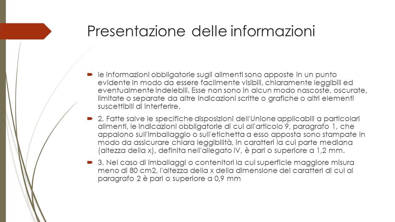 Presentazione delle informazioni