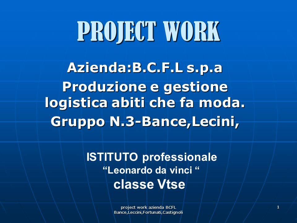 Produzione e gestione logistica abiti che fa moda.