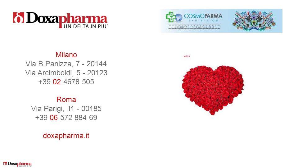 Milano Via B.Panizza, 7 - 20144. Via Arcimboldi, 5 - 20123. +39 02 4678 505. Roma. Via Parigi, 11 - 00185.