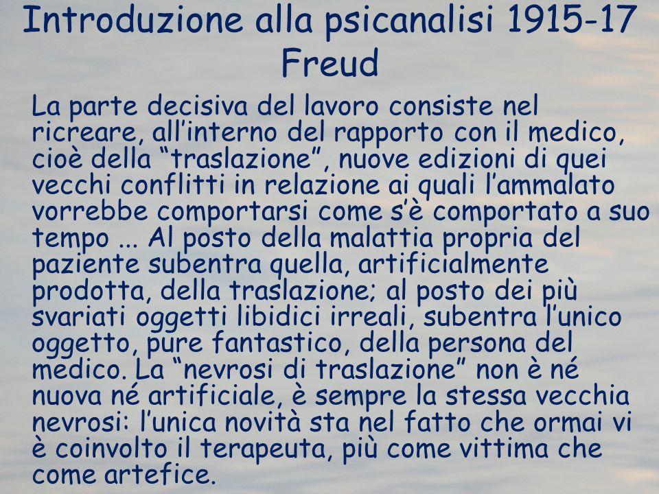 Introduzione alla psicanalisi 1915-17 Freud