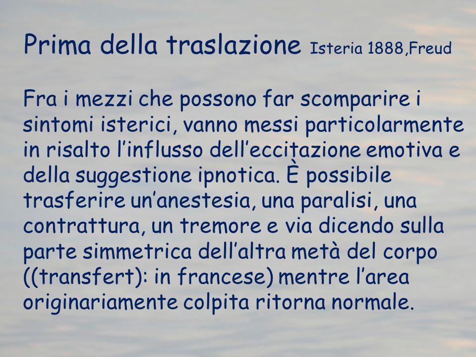 Prima della traslazione Isteria 1888,Freud