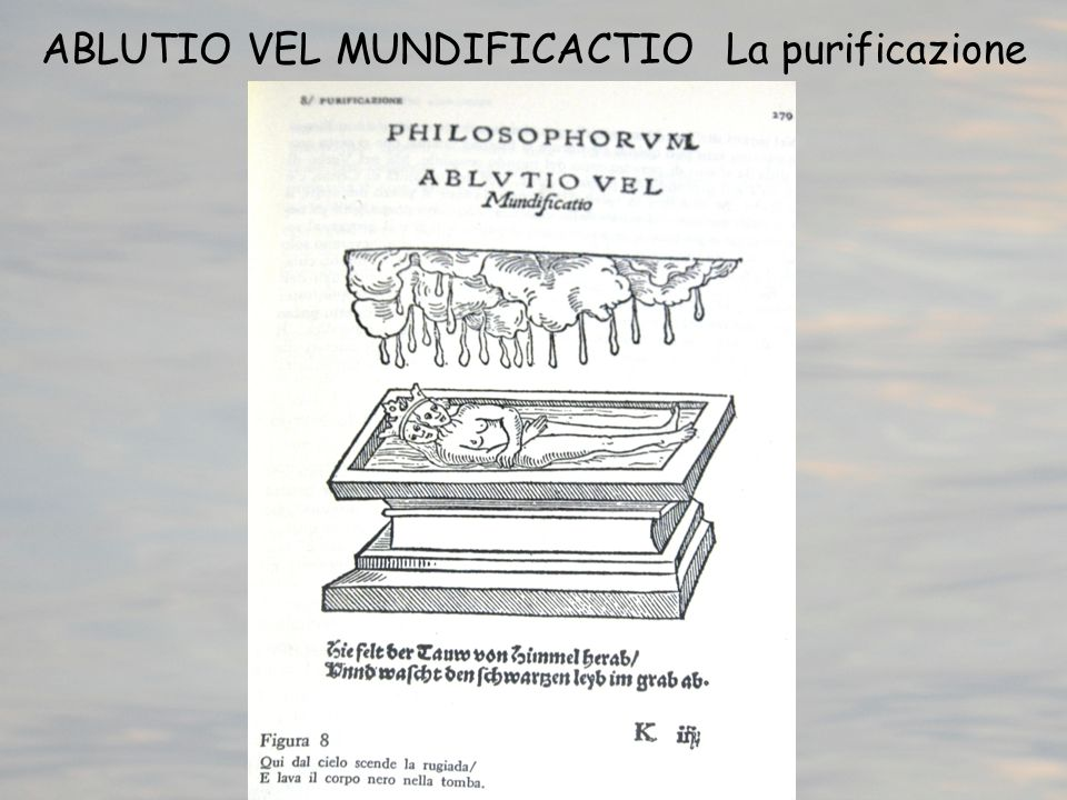 ABLUTIO VEL MUNDIFICACTIO La purificazione