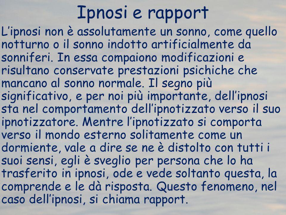Ipnosi e rapport