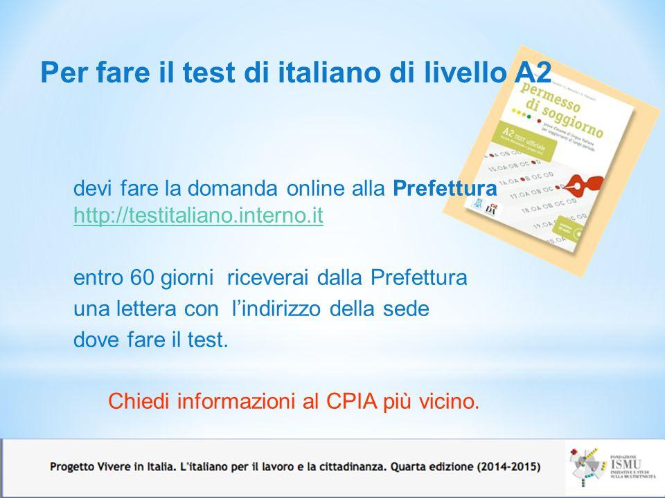 Esame lingua italiana carta di soggiorno 28 images for Test italiano per carta di soggiorno 2016