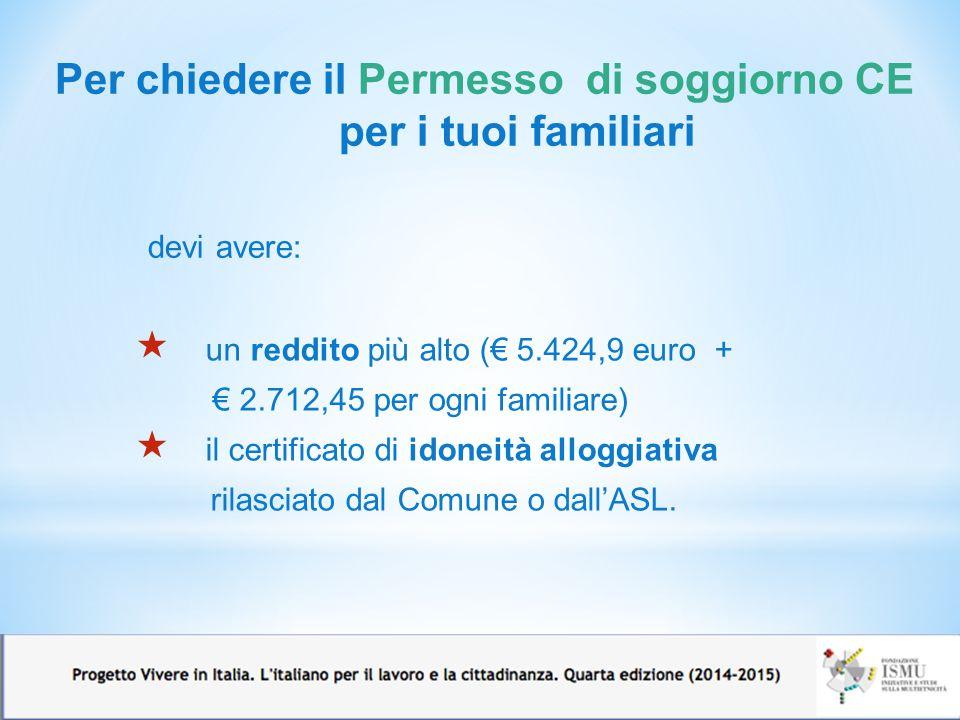 Imparare l italiano perch ppt video online scaricare for Reddito per permesso di soggiorno