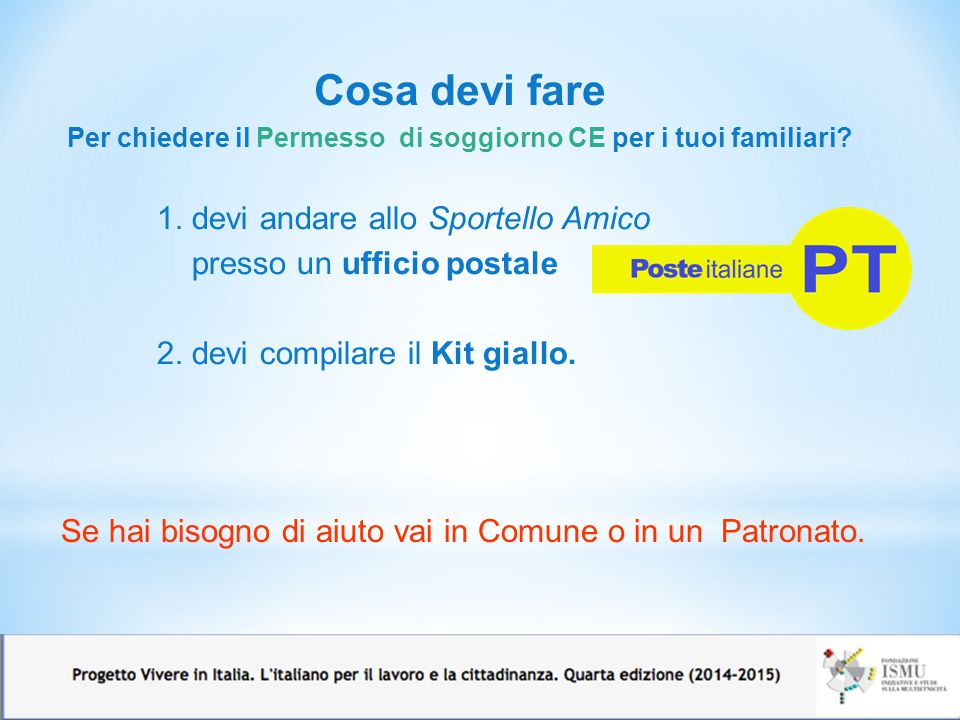 Imparare l italiano perch ppt video online scaricare for Permessi di soggiorno on line