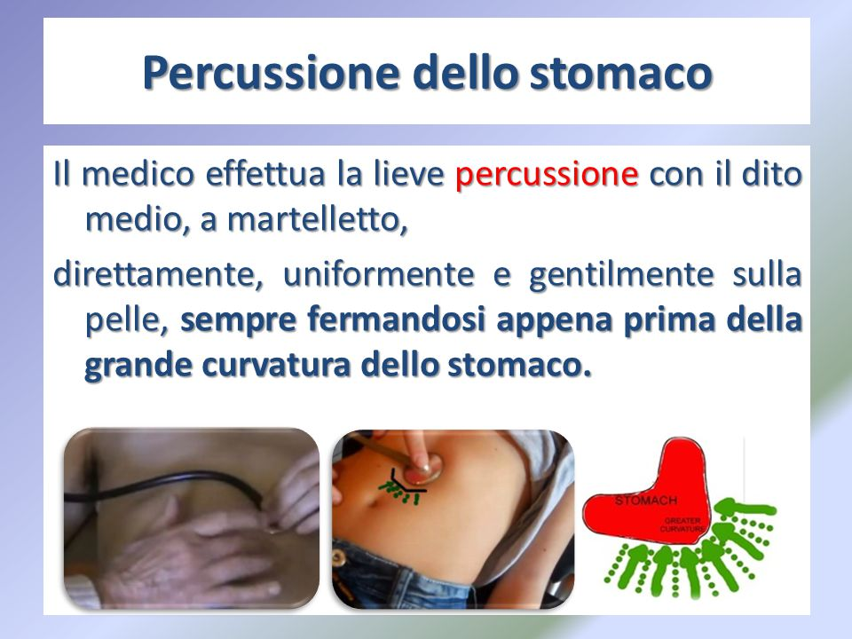 Percussione dello stomaco