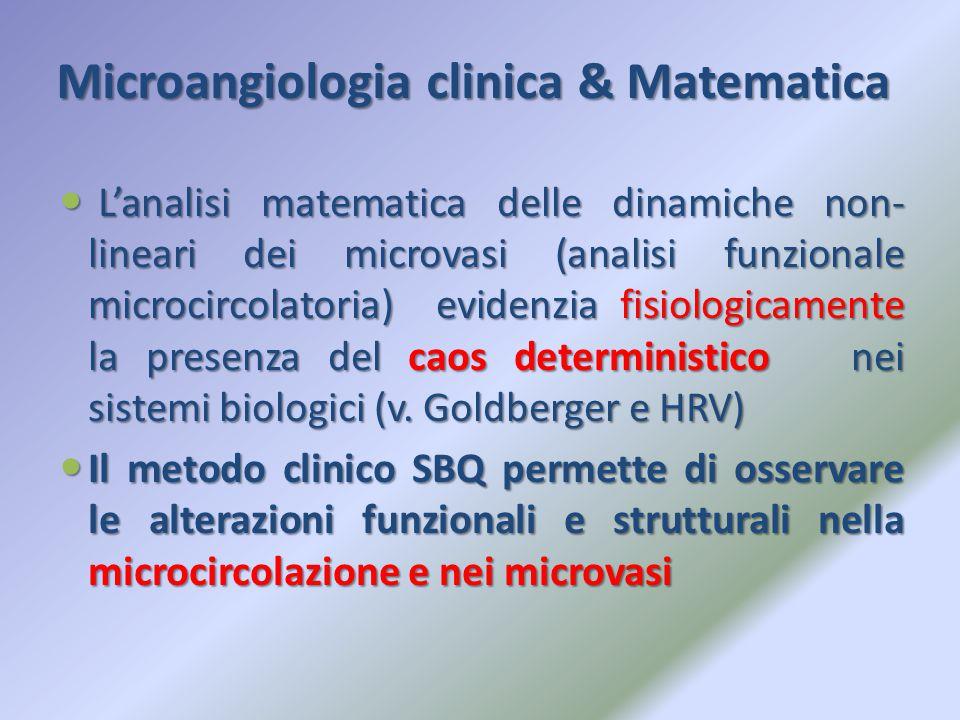 Microangiologia clinica & Matematica