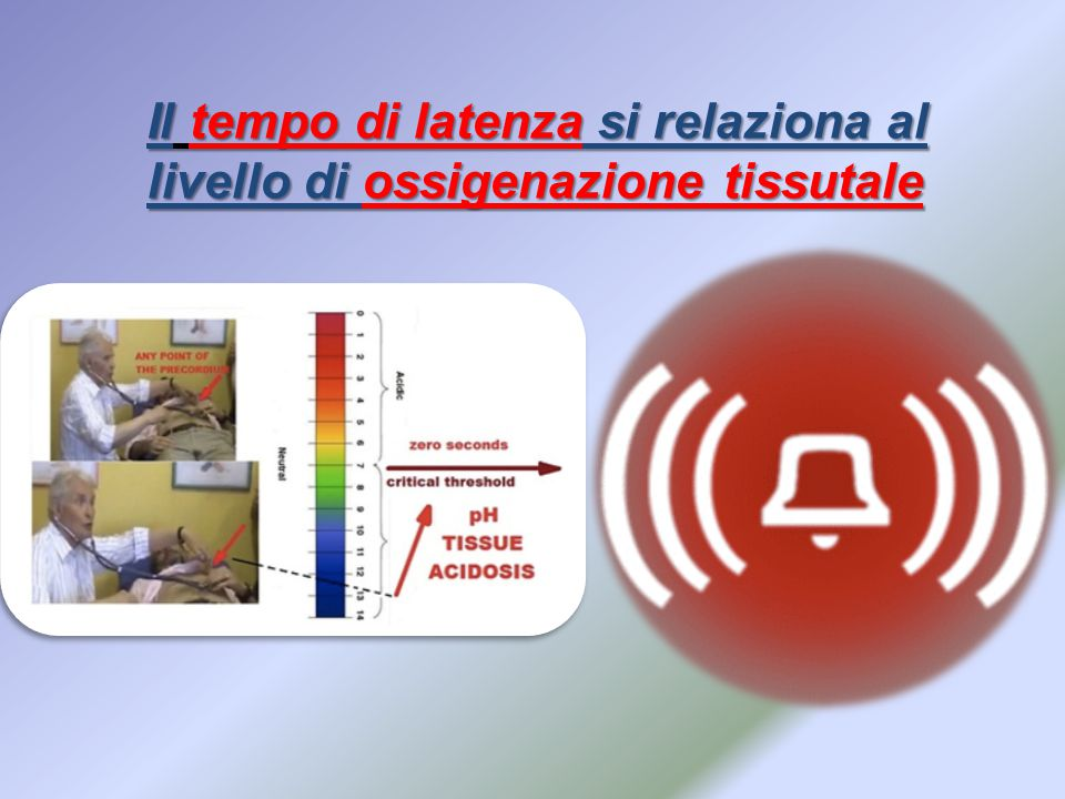 Il tempo di latenza si relaziona al livello di ossigenazione tissutale