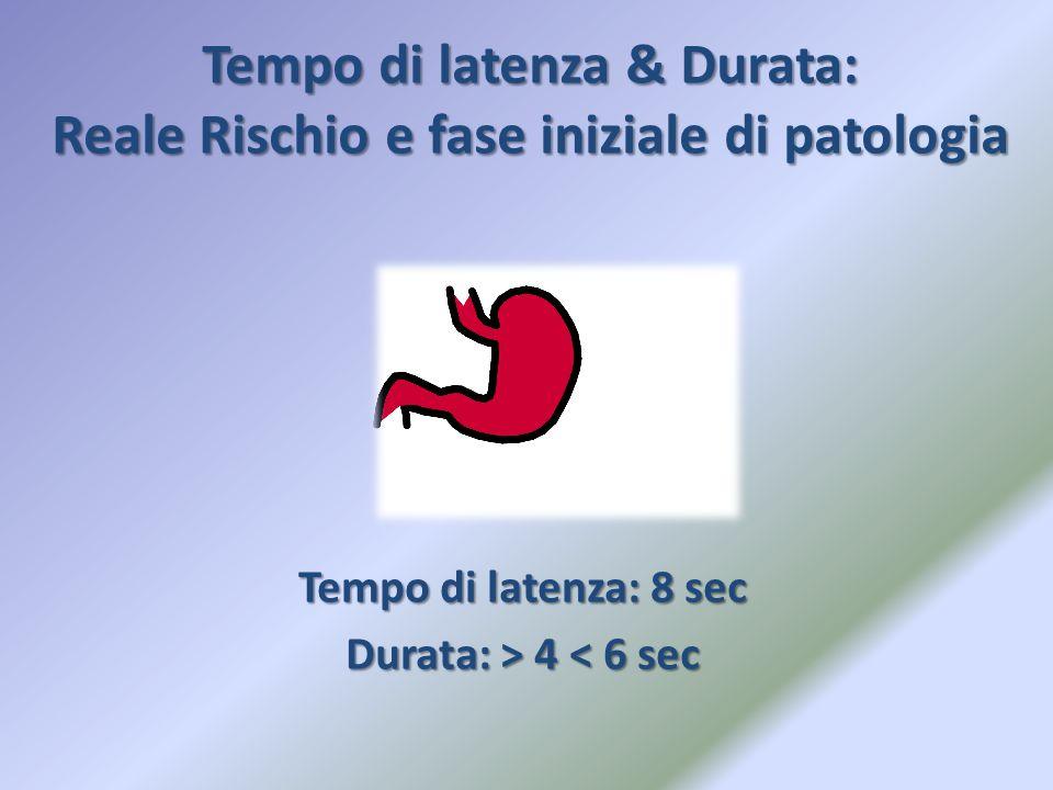 Tempo di latenza & Durata: Reale Rischio e fase iniziale di patologia