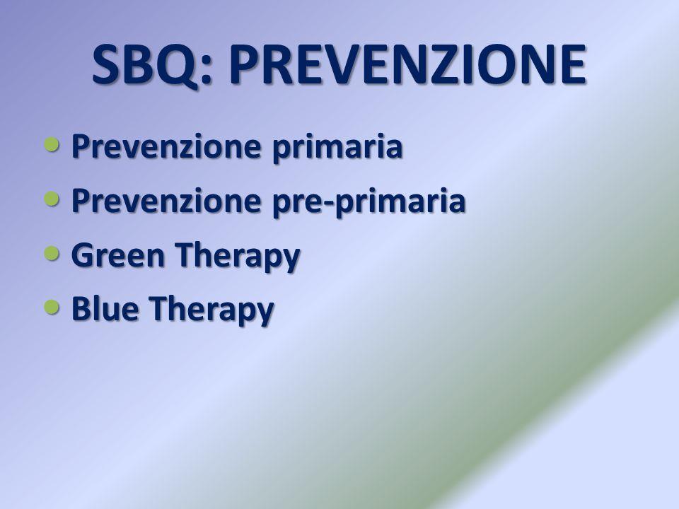 SBQ: PREVENZIONE Prevenzione primaria Prevenzione pre-primaria