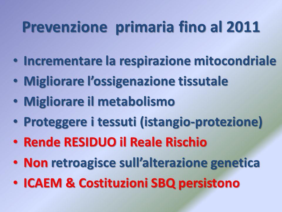 Prevenzione primaria fino al 2011
