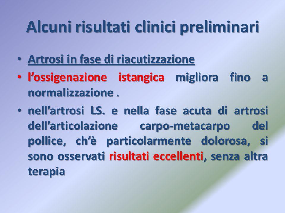 Alcuni risultati clinici preliminari