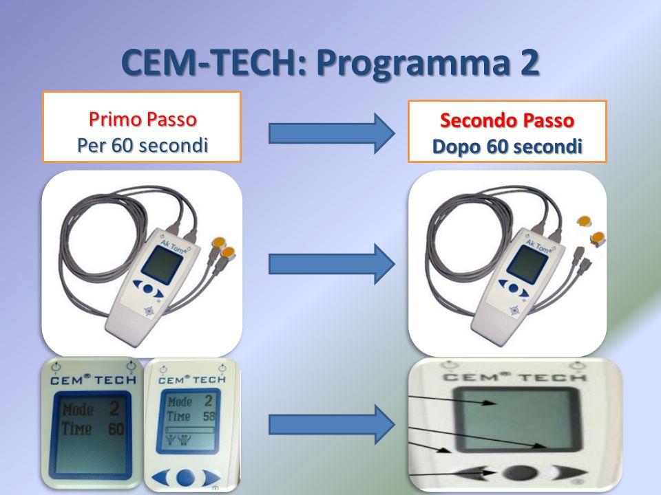 CEM-TECH: Programma 2 Primo Passo Secondo Passo Per 60 secondi
