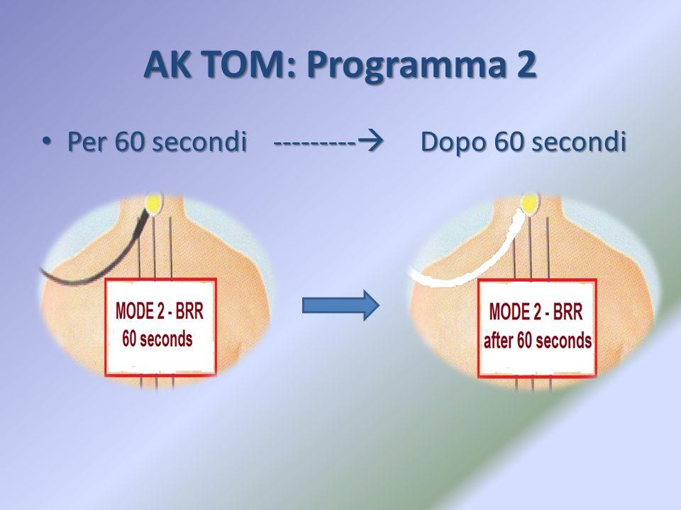 AK TOM: Programma 2 Per 60 secondi --------- Dopo 60 secondi