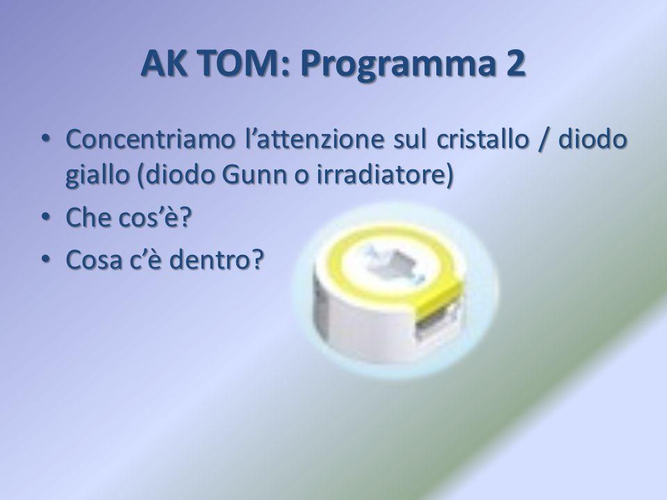 AK TOM: Programma 2 Concentriamo l'attenzione sul cristallo / diodo giallo (diodo Gunn o irradiatore)