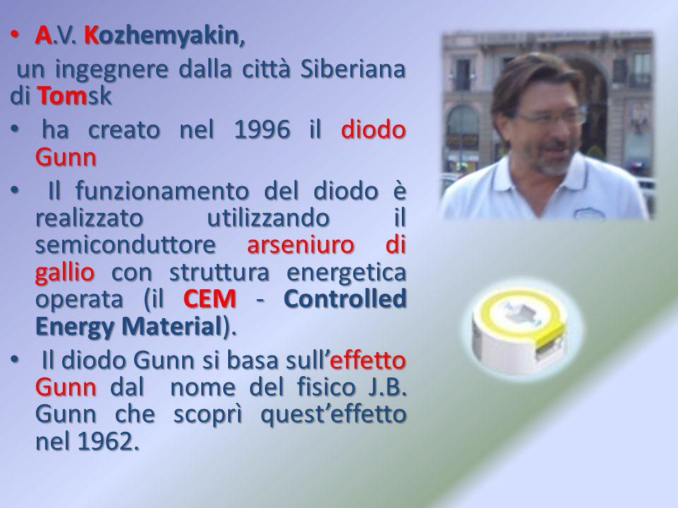 A.V. Kozhemyakin, un ingegnere dalla città Siberiana di Tomsk. ha creato nel 1996 il diodo Gunn.