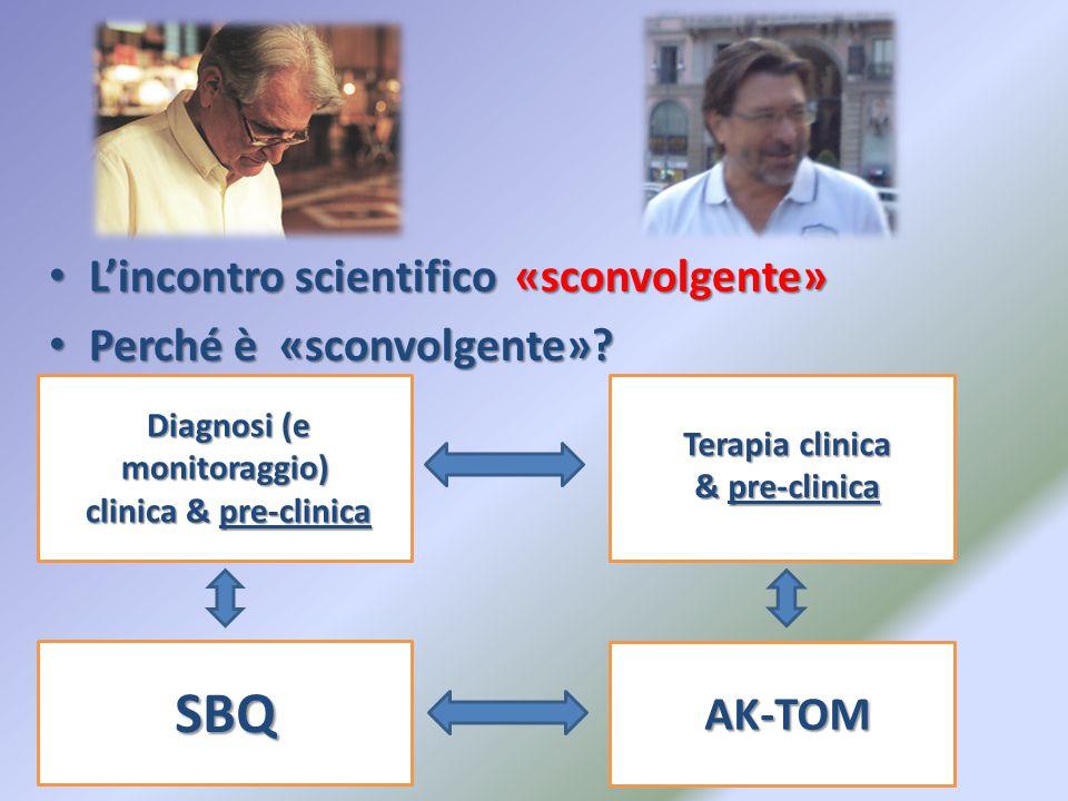 Diagnosi (e monitoraggio) Terapia clinica & pre-clinica