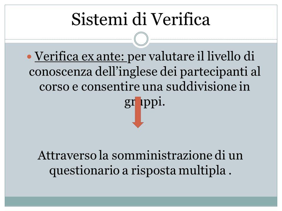 Sistemi di Verifica