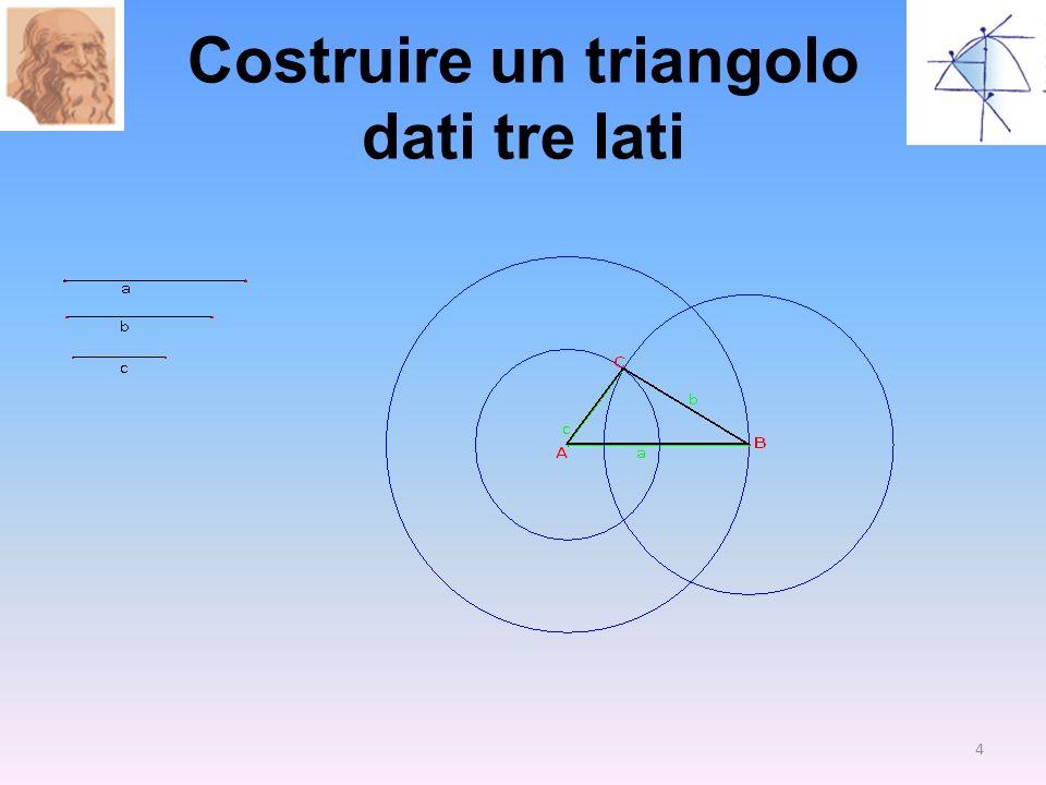 Costruire un triangolo dati tre lati