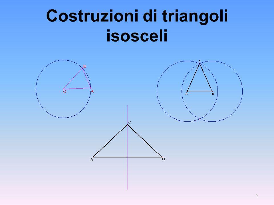Costruzioni di triangoli isosceli