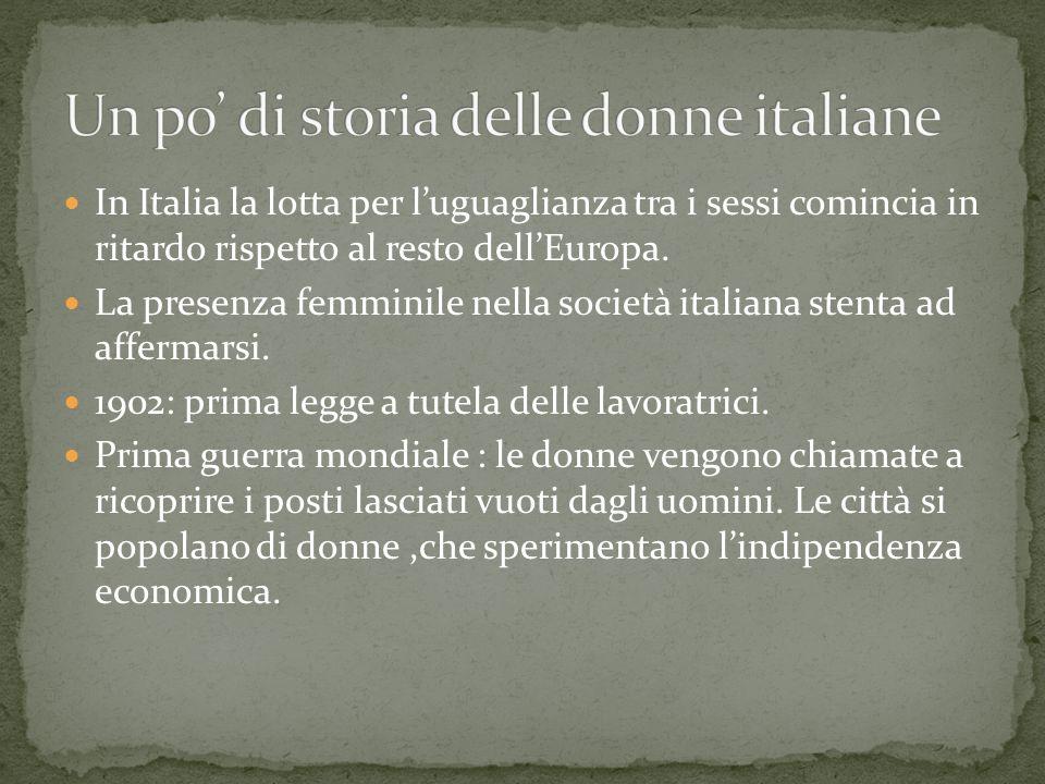 Un po' di storia delle donne italiane