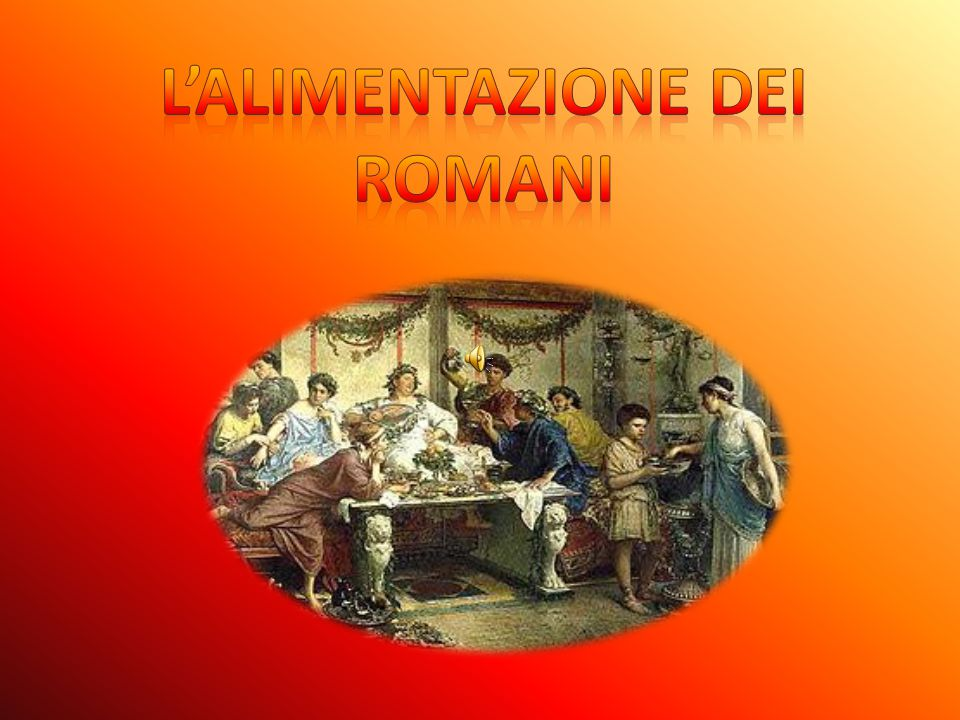 L'alimentazione dei romani