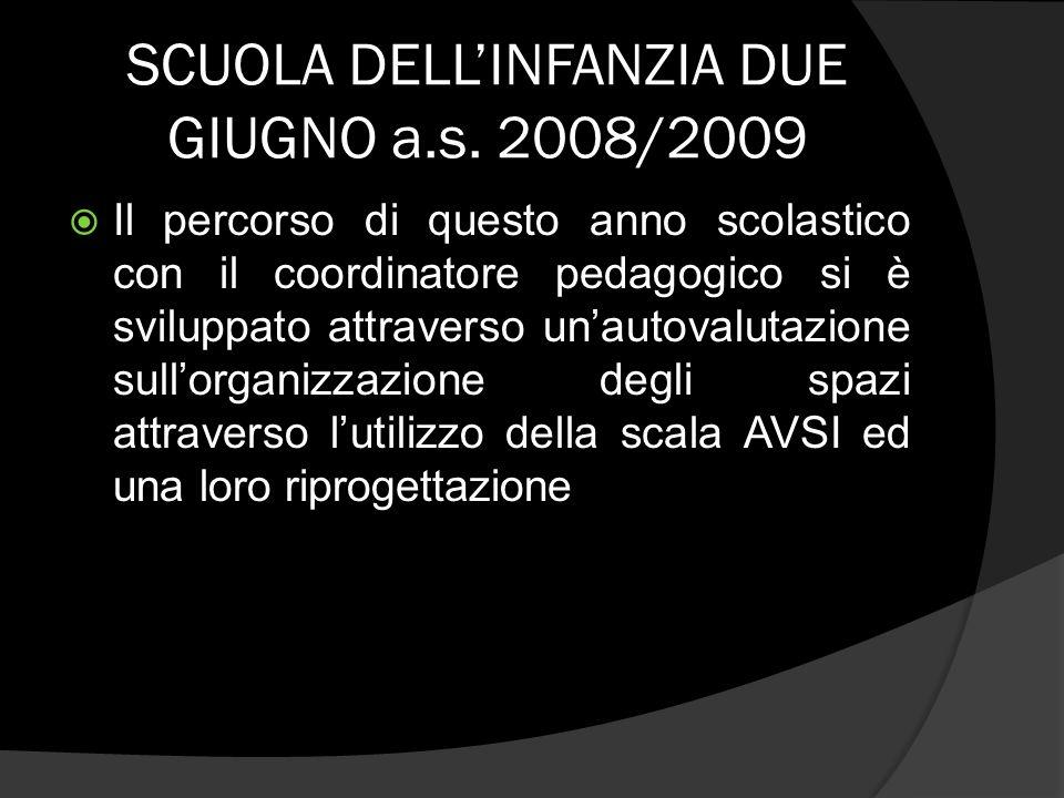 SCUOLA DELL'INFANZIA DUE GIUGNO a.s. 2008/2009