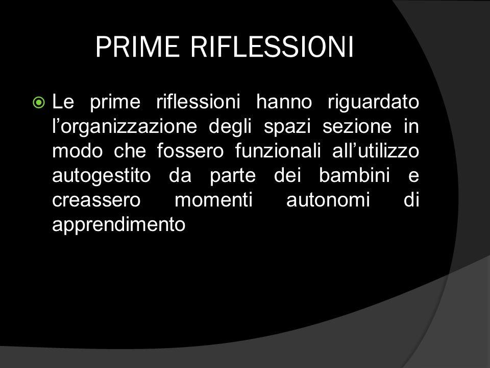 PRIME RIFLESSIONI