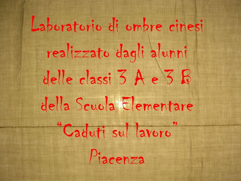 Laboratorio di ombre cinesi realizzato dagli alunni delle classi 3 A e 3 B della Scuola Elementare Caduti sul lavoro Piacenza