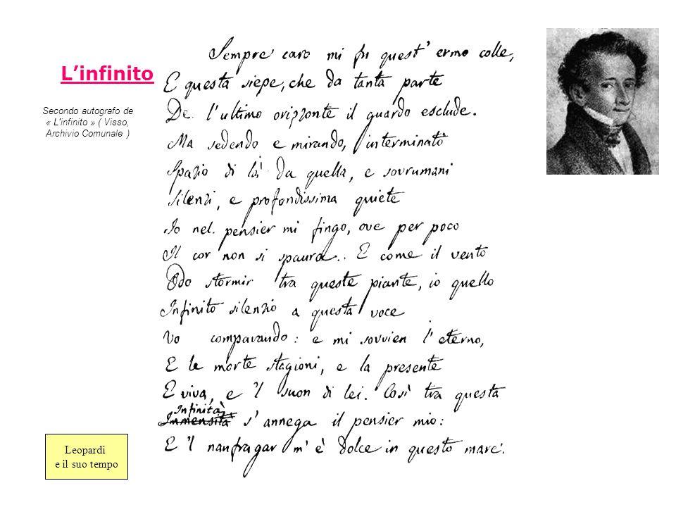 Secondo autografo de « L infinito » ( Visso, Archivio Comunale )