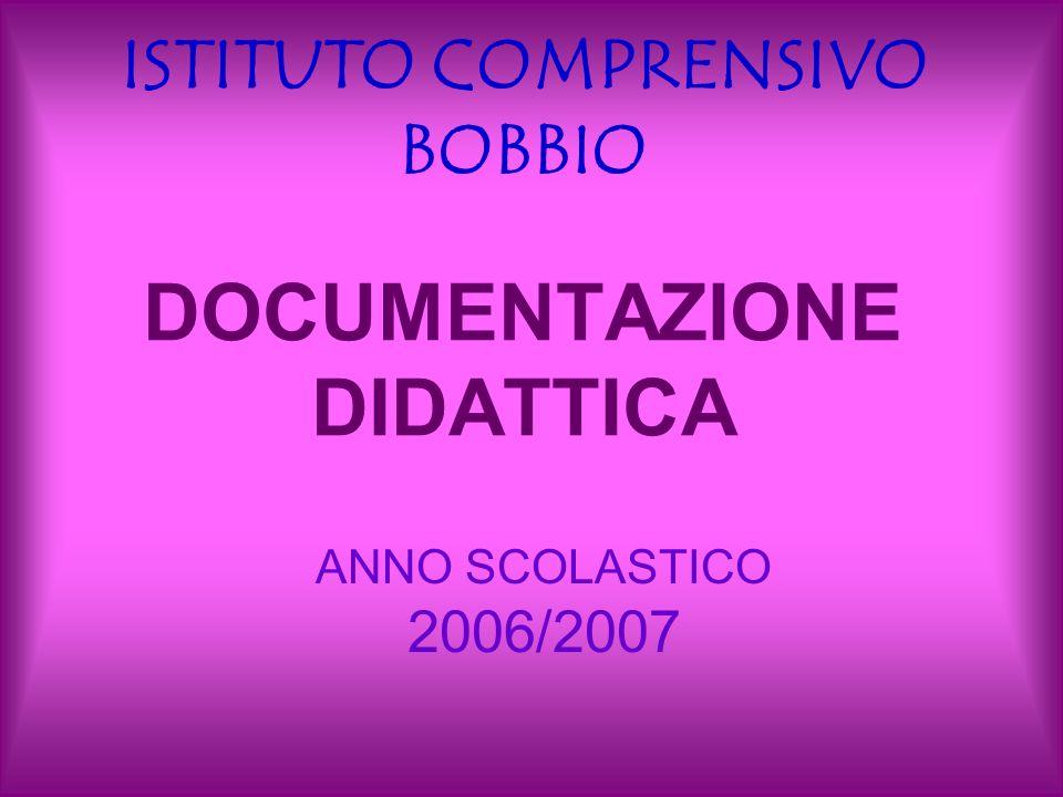 DOCUMENTAZIONE DIDATTICA