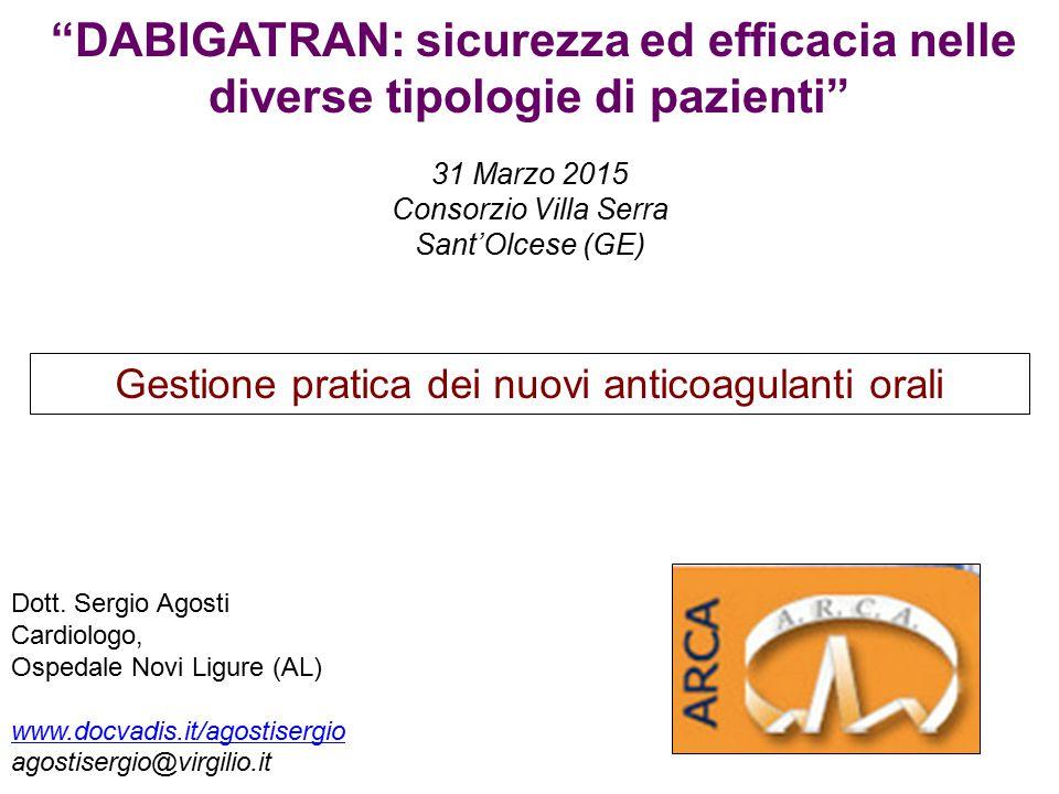 Gestione pratica dei nuovi anticoagulanti orali