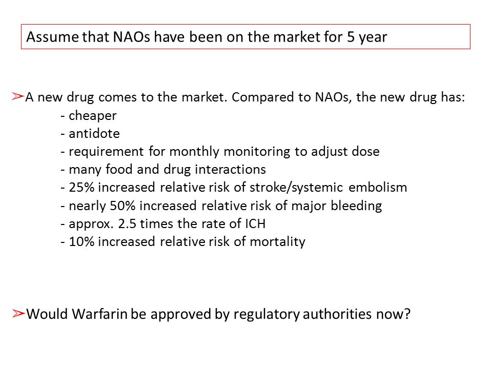 Assume that NAOs have been on the market for 5 year