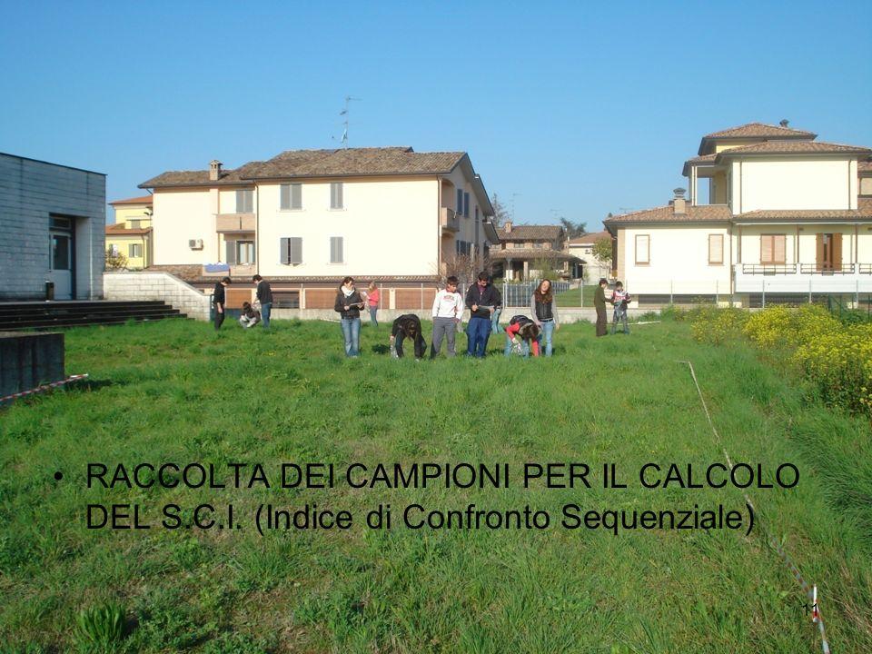 RACCOLTA DEI CAMPIONI PER IL CALCOLO DEL S. C. I