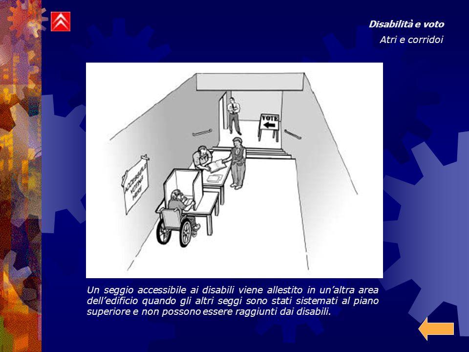 Disabilità e voto Atri e corridoi.