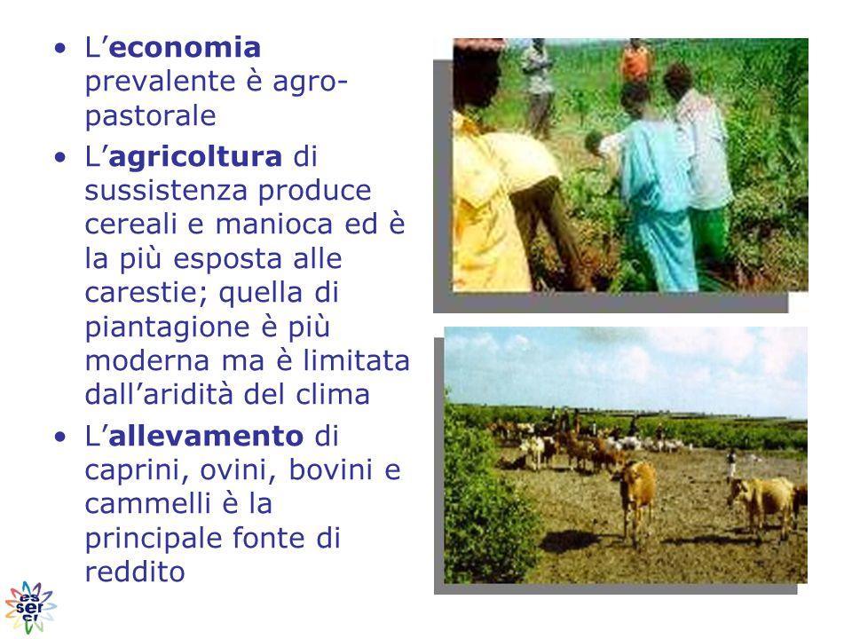 L'economia prevalente è agro-pastorale