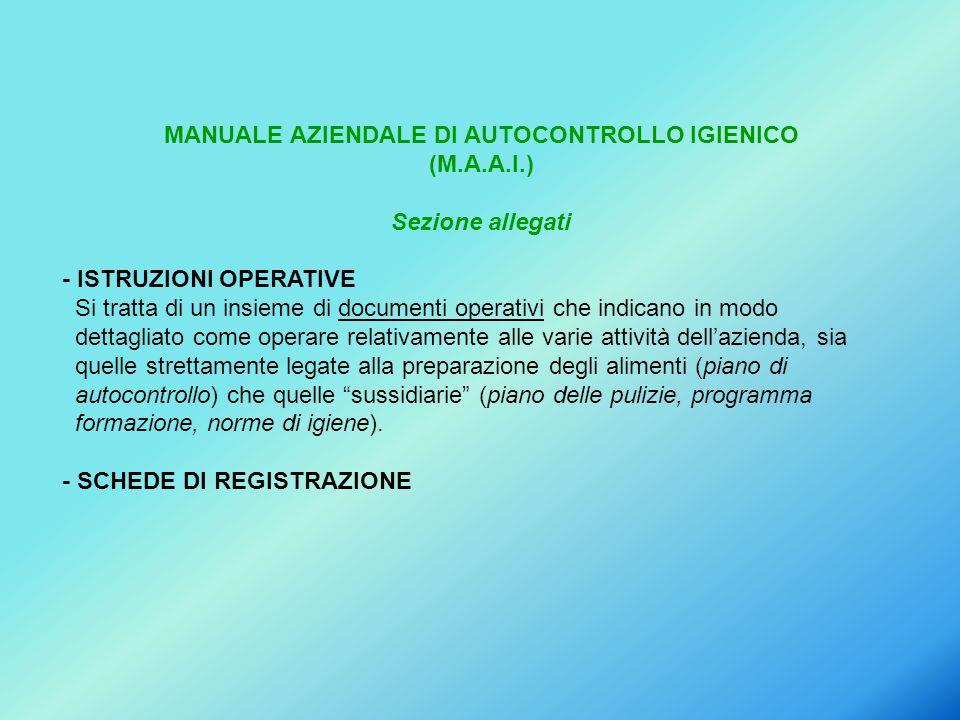 MANUALE AZIENDALE DI AUTOCONTROLLO IGIENICO (M.A.A.I.)
